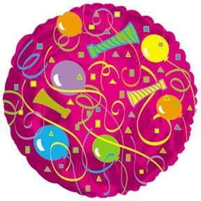 """18"""" PARTY PATTERN ROUND FOIL BALLOON"""