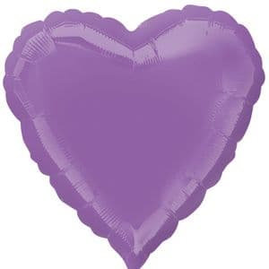 """18"""" Spring Lilac Foil Heart"""