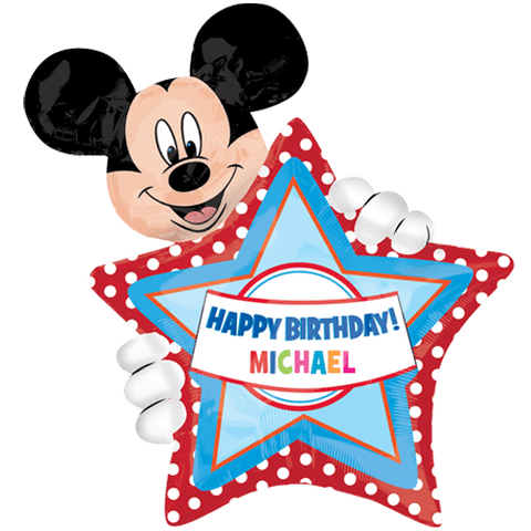 """24"""" Mickey Mouse Personalised Birthday Foil Balloon"""