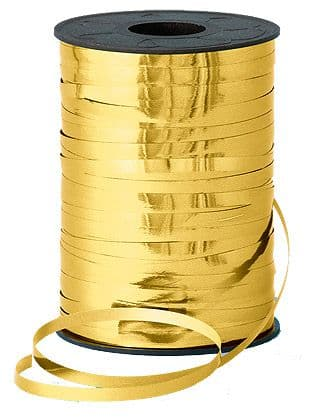 250m Gold Metallic Curling Ribbon