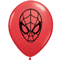 """5"""" Spider Man Face Latex Balloons x 100"""