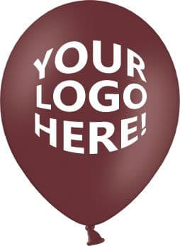 Deep Maroon Latex Balloons with Custom Printing