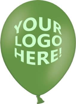 Leaf Green Latex Balloons with Custom Printing