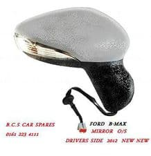 FORD B-MAX DRIVERS SIDE DOOR MIRROR ELECTRIC   2012 - 2014  NEW   ( IN PRIMER )