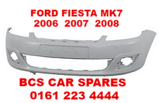 FORD FIESTA MK 6  FRONT BUMPER   07 - 57  REG   NEW  NEW  ( READY TO PAINT )