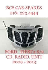 FORD FIESTA MK 7/8   CD. RADIO.  UNIT.     2009 - 2013.  Fully    Tested