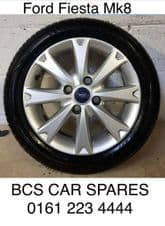 """FORD FIESTA Mk8.  ALLOY 16"""".   WHEEL  INC. TYRE.  REPLACEMENT SPARE."""