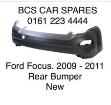 FORD  FOCUS  MK 4  REAR  BUMPER   NEW    2009 - 2010 - 2011  ( READY TO PAINT )