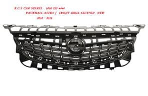 VAUXHALL  ASTRA J   GRILL  FRONT  ( IN TOP OF  BUMPER )   2009 +   09 REG