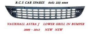 VAUXHALL  ASTRA J  LOWER  GRILL  ( IN FRONT BUMPER )   2009 - 2010 - 2011 - 2011 - 2012  NEW