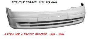 VAUXHALL ASTRA MK 4 FRONT BUMPER   1999 - 2004  ( READY TO PAINT )    NEW  NEW