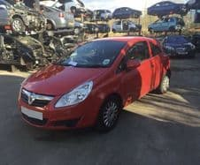 VAUXHALL  CORSA  D     DOOR. RED. NS.  RED  PASSENGER. 3 Dr Model.