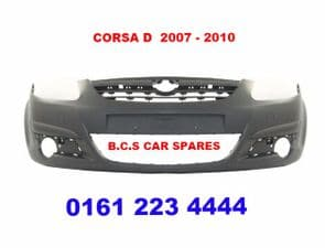 VAUXHALL  CORSA D  FRONT BUMPER   NEW NEW   2007 - 2008 - 2009 - 2010 - 2011   ( IN PRIMER )