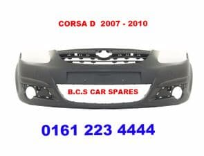 VAUXHALL CORSA  D    MK 3  FRONT BUMPER   07 - 08  reg     NEW  NEW   ( IN PRIMER READY FOR PAINT )