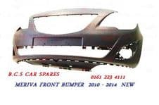 VAUXHALL MERIVA FRONT BUMPER  2010 - 2011 - 2013  NEW   READY TO PAINT