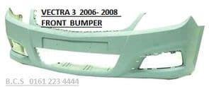 VAUXHALL VECTRA MK 3   FRONT BUMPER   06  07  08  reg   NEW   ( IN PRIMER READY TO  PAINT )