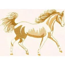 LARGE OUTLINE HORSE