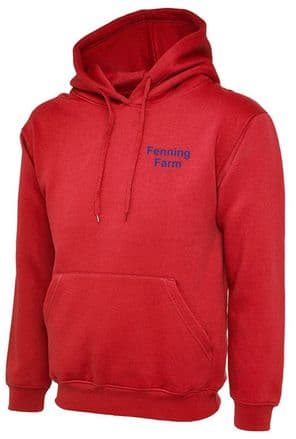 UNISEX HOODED SWEATSHIRT  RED