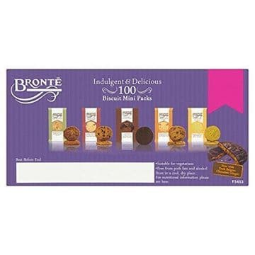 (100 Pack) Brontë Indulgent & Delicious Biscuits Mini Packs 5 Varieties 20 Packs