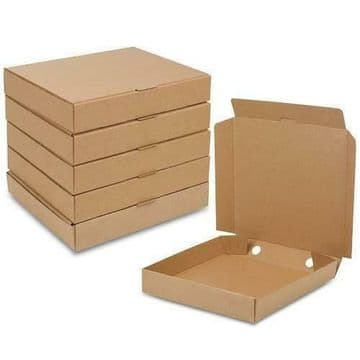 "12"" (12 inch) Brown Pizza Boxes Takeaway Box Strong Quality"