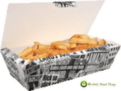 150 Large Fish & Chip Shop Box Fast Food Takeaway Tray Packaging Party BBQ Cafe