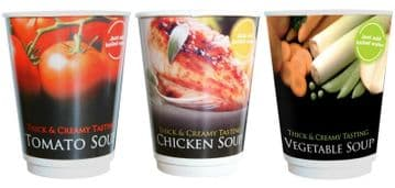 30 Drink Variety Pack Thick & Creamy 12oz in Cup Soups  (Tomato, Chicken & Veg)