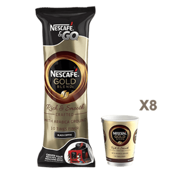 32 Nestle Nescafe & Go Gold Blend Black Coffee InCup Drinks Worldwide