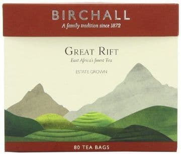 Birchall Great Rift Breakfast Blend Pack of 80 Everyday Tea Bags:Choose Quantity