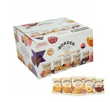 Border Biscuits Luxury 5 Assorted Varieties - Case of 100 Packs of 2 Cookies