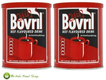 Bovril - 2 x Large 450g Tub Beef Flavour Drink Granules - 180 Servings