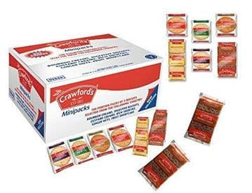 Crawfords Mini Packs 100 Biscuits 6 Varieties (3 Biscuits per pack)