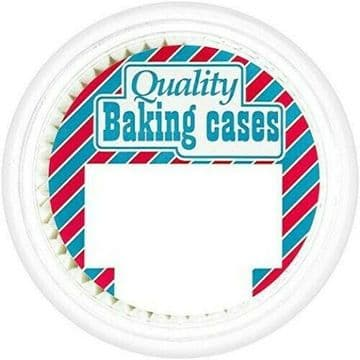 Doric Quality Crimped Paper Baking Cases in Resealable Tubs - 12 Packs of 100