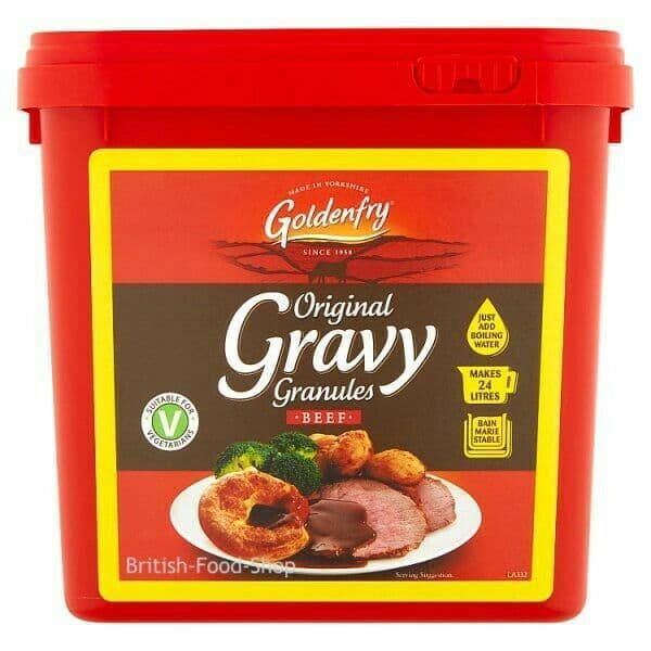 Goldenfry Gravy Granules 2kg Makes 27 Litres - Select Original Beef or Onion