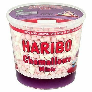 Haribo Chamallows Minis Marshmellows Marshmallows for Hot Chocolate Tub 475g