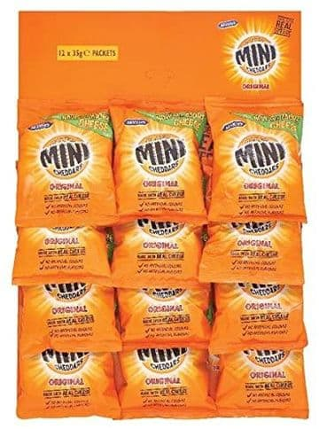 Large Bags of Mini Cheddars 12 x 35g Packs on a Pub Card!