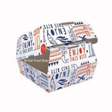 Large Disposable Takeaway Cardboard ClamShell Burger Boxes - Fast Food Packaging