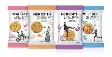 Meredith & Drew Mini Pack Biscuits - Case of 100 Individually Wrapped