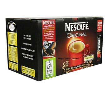 Nescafe Original Coffee One Cup Stick Sachets Case 200
