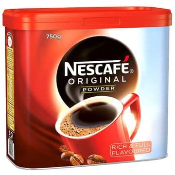 Nescafe Original Powder 750g Catering Tin - Rich Full Flavoured - Choose Quantity
