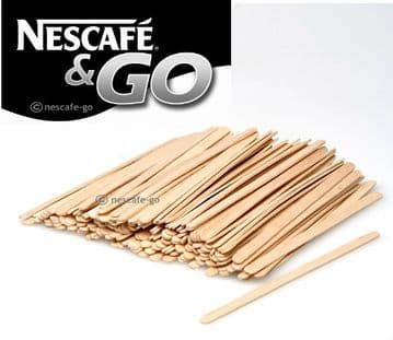 "Pack of 1000 Wooden 5.5"" Classic Round Ends - Coffee Tea Hot Drinks Stirrers"