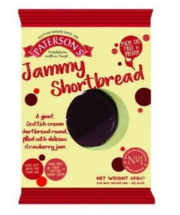 Patersons GIANT Jammie Shortbread Biscuits Individ Wrapped (Jammy Dodgers) 65g