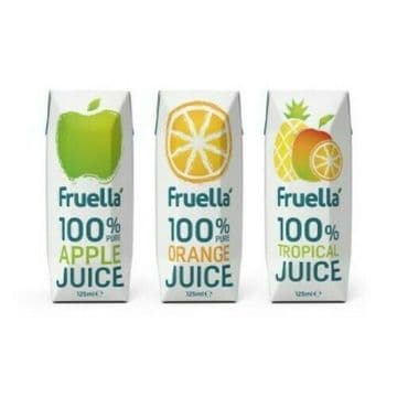 Radnor Hills Fruella 100% Pure Fruit Juice 125ml x 30 Apple | Orange |Tropical