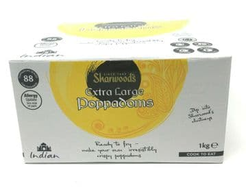 Sharwoods Extra Large Poppadoms [Pack of 88] Ready to Cook