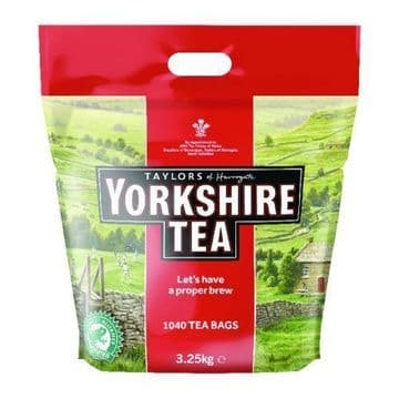 Taylors of Harrogate Yorkshire Tea 1040 Two Cup Tea Bags 3.25kg British Cuppa