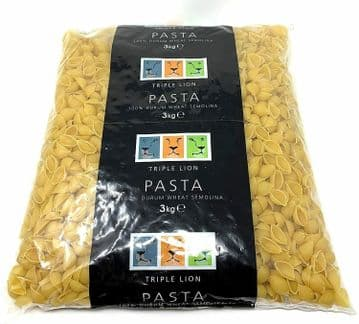 Triple Lion Professional Chef's Conchiglie Shells 100% Durum Wheat Pasta 3kg