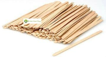 "Wooden Stirrers 5.5"" 140mm Round End Stick Coffee Tea Hot Drinks Choose Quantity"