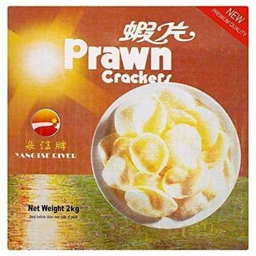 Yangtse River Prawn Crackers - Uncooked 2kg Catering Chinese Takeaway