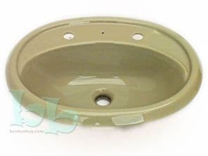 Avocado Catherine Inset Vanity 2TH Basin / Sink