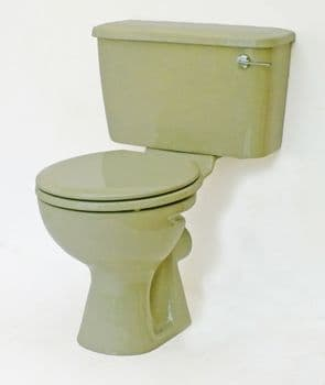 Avocado Toilet Pan and Cistern Close-Coupled
