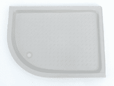 Bonded resin shower tray 1200x900mm Quadrant LEFT HANDED Whisper Grey (other colours available)